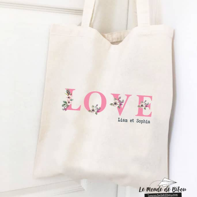 Tote bag personnalisable Love