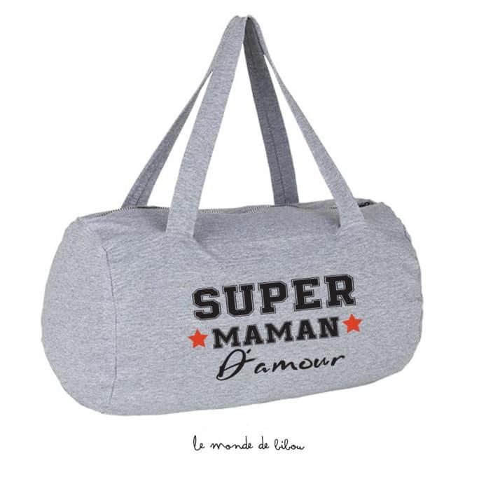 Sac polochon Super Maman d'amour
