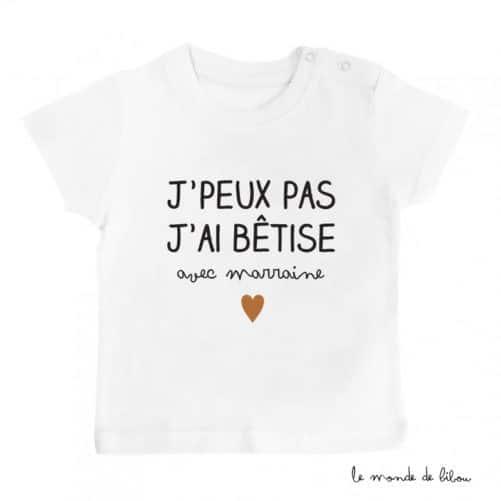 T-shirt Bêtise avec Marraine