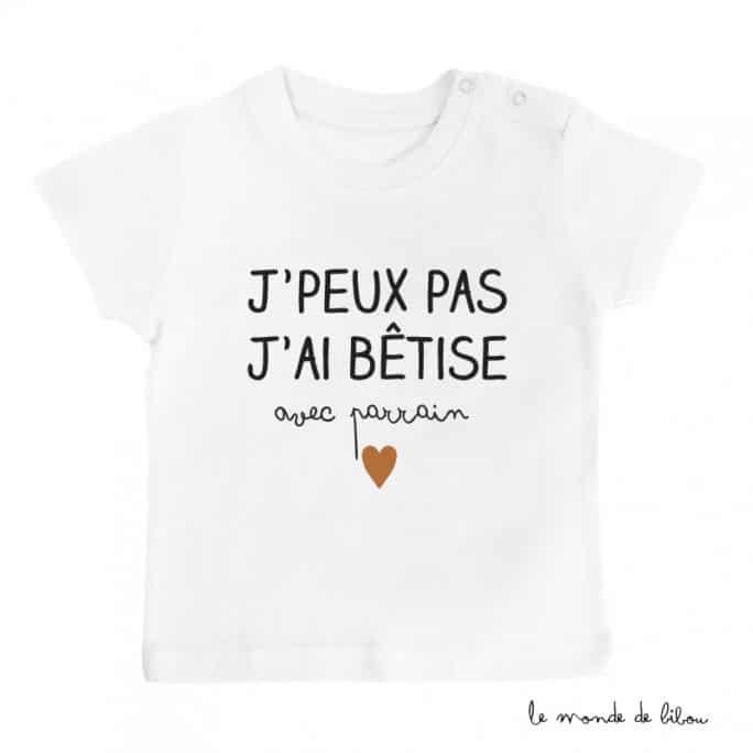 T-shirt Bêtise avec Parrain