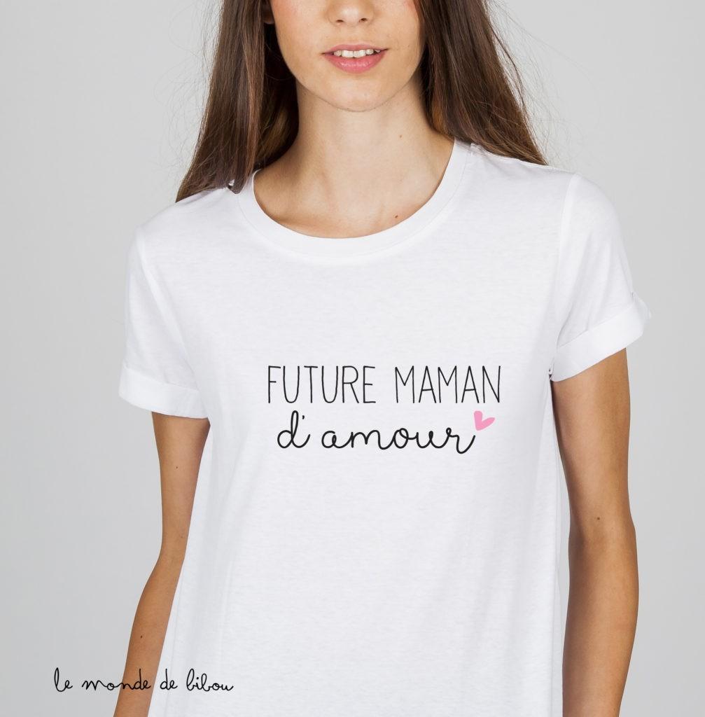 Tee-shirt Future Maman d'amour