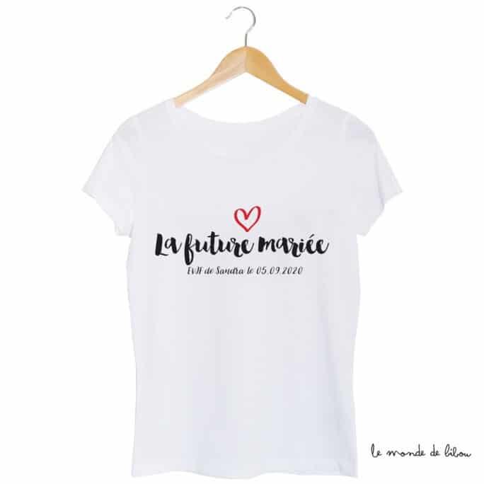 Tee-shirt Future mariée cœur