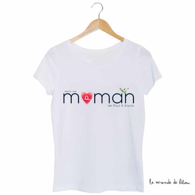 Tee-shirt Maman personnalisé