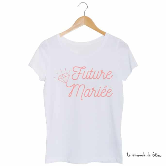 Tee-shirt Future mariée diamant