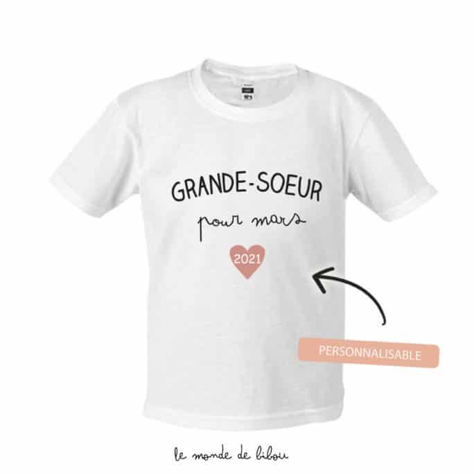 T-Shirt Grand frère/sœur personnalisé