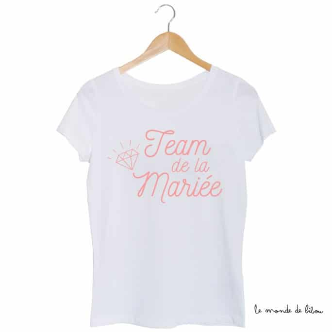 Tee-shirt Team de la mariée diamant