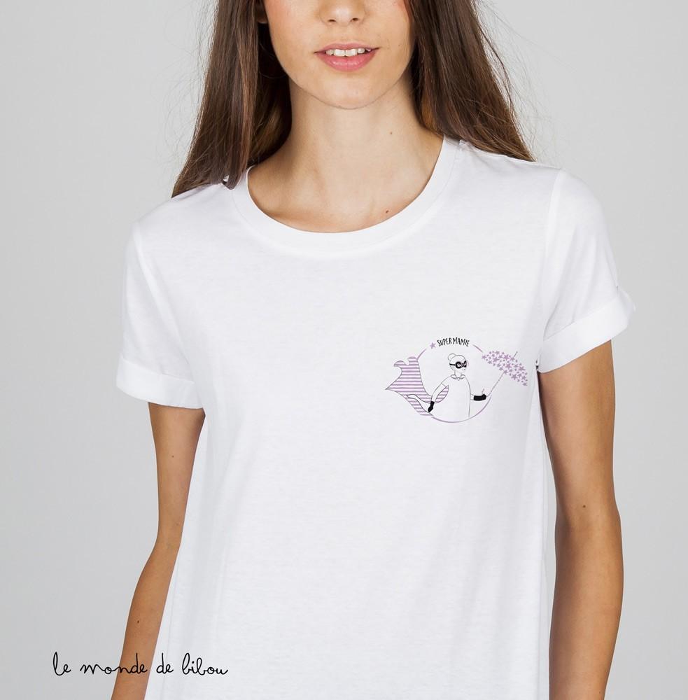 Tee-shirt Mamie Super-héros