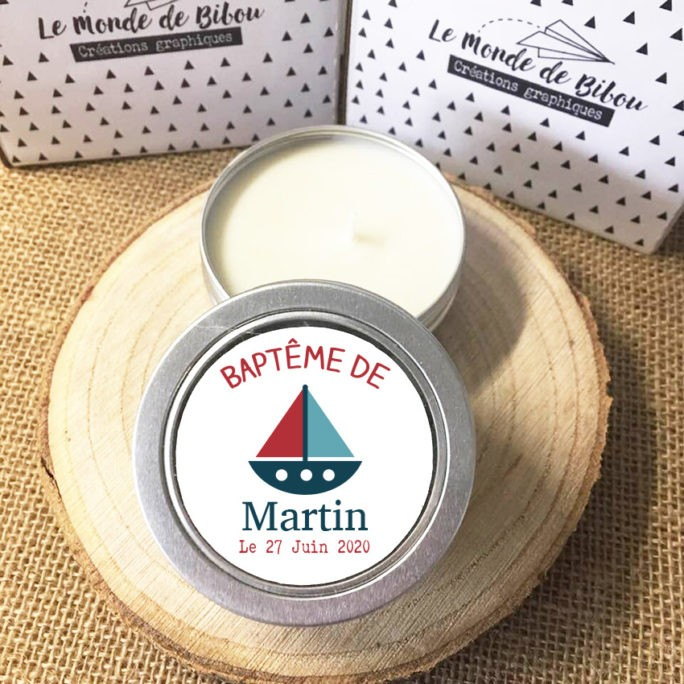 Lot de 12 bougies Marin