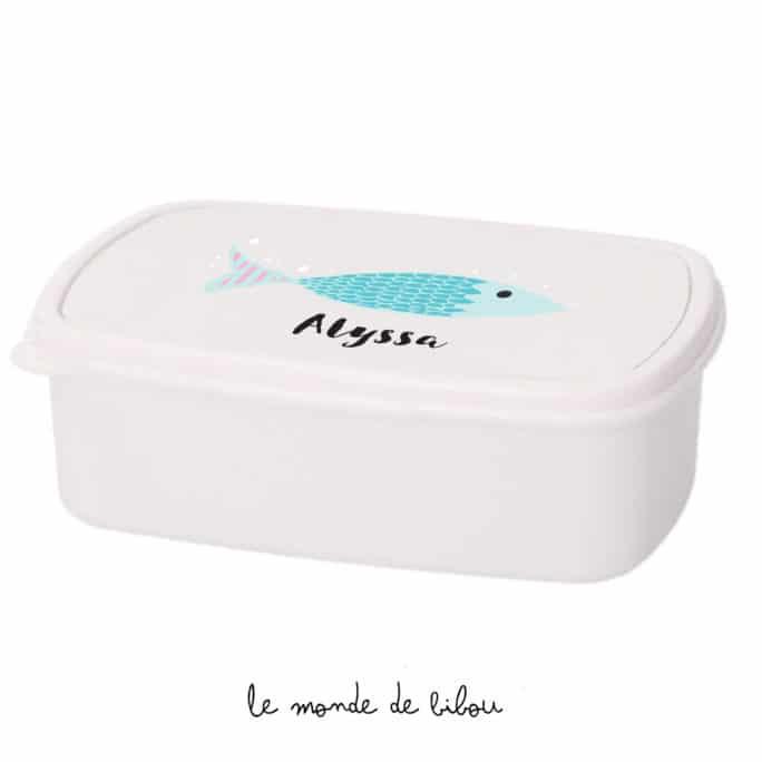 Boîte à Goûter Poisson bleu
