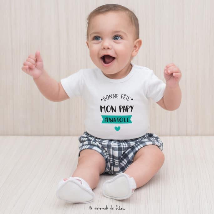 T-shirt bébé Fête des Grands-pères