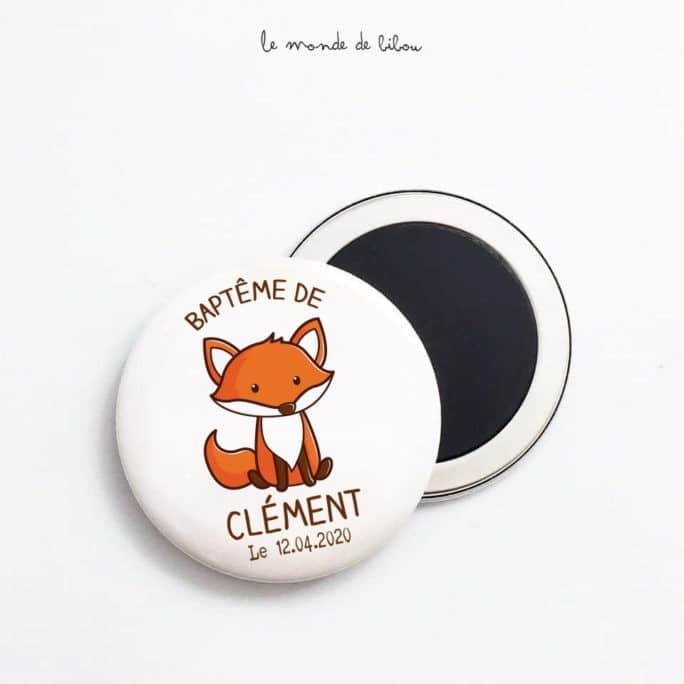 Magnet personnalisé Petit renard