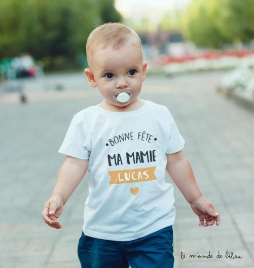 T-shirt bébé Fête des Grands-mères