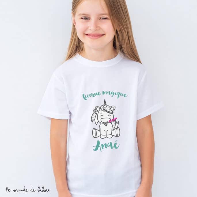 T-Shirt enfant Licorne magique