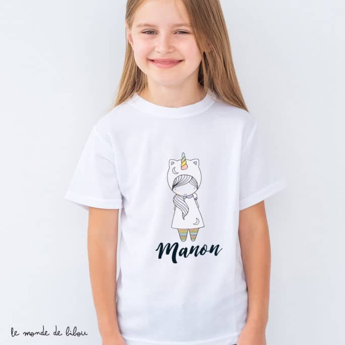 T-Shirt enfant Petite licorne