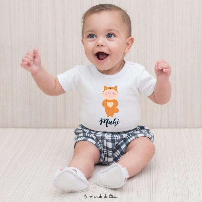 T-Shirt bébé Mon petit renard