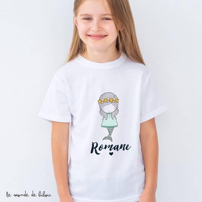 T-Shirt enfant Petite sirène