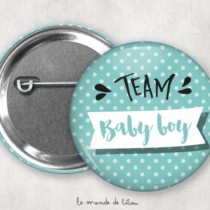 Badges Baby shower Polka