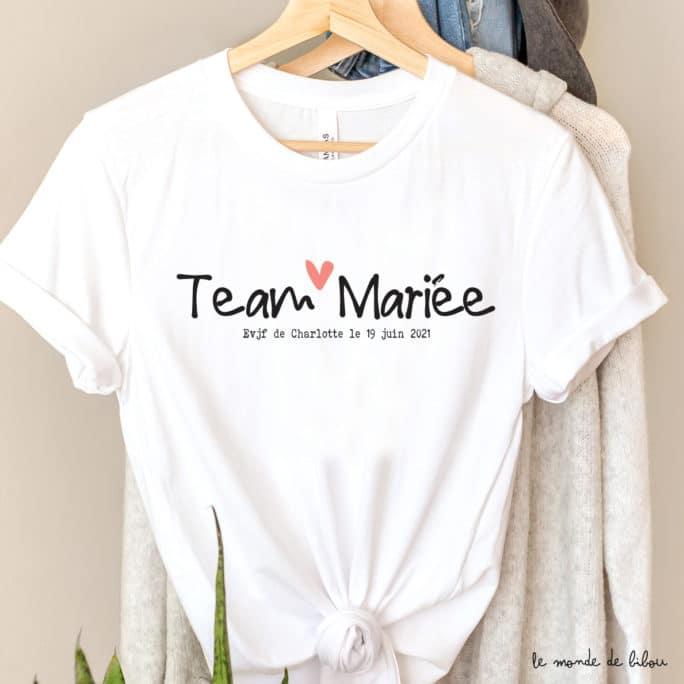 T-shirt EVJF petit cœur