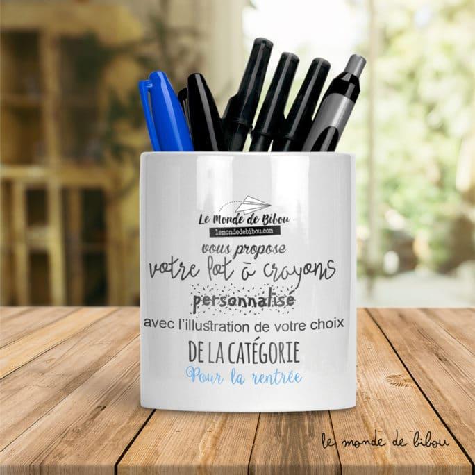Pot à crayons enfant personnalisé
