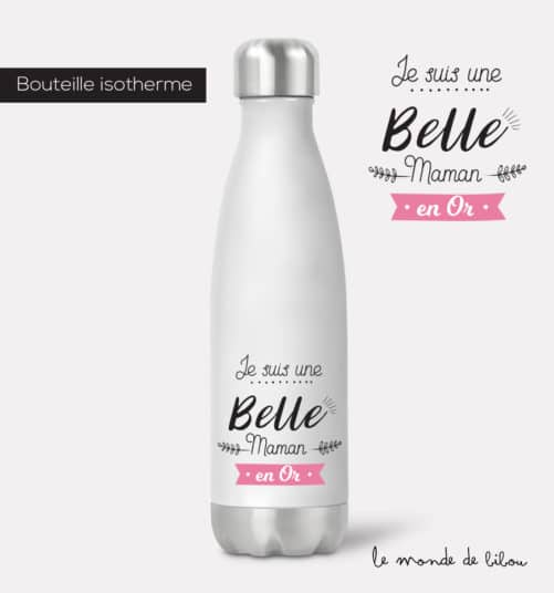 Bouteille isotherme Belle maman en or