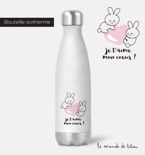 Bouteille isotherme Je t'aime