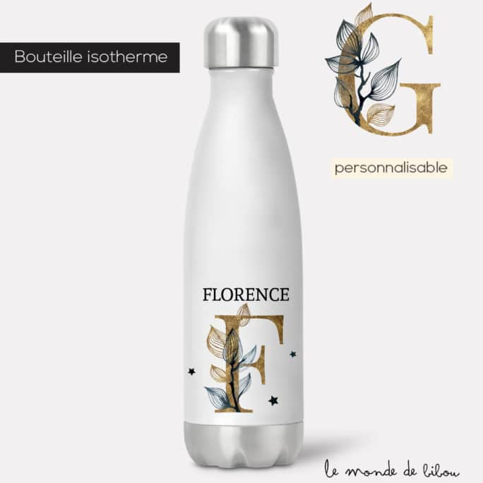 Bouteille isotherme Initiale chic