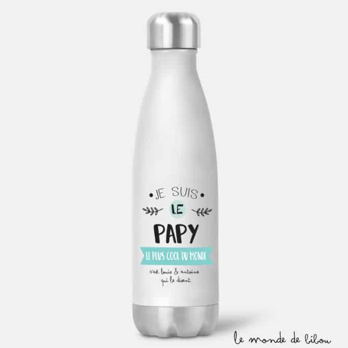 Bouteille isotherme Papy le plus cool