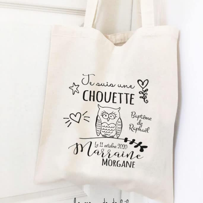 Tote bag Chouette marraine