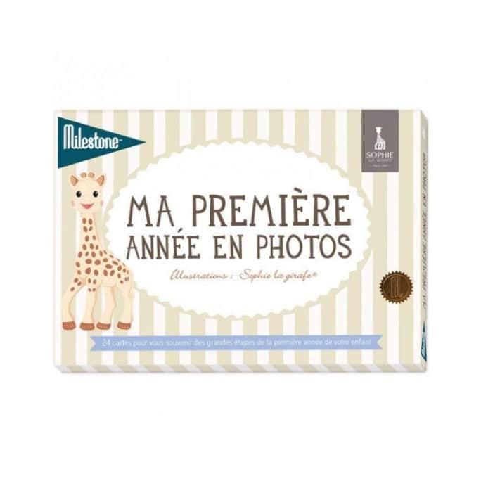 Cartes étapes Ma première année en photos Sophie la girafe