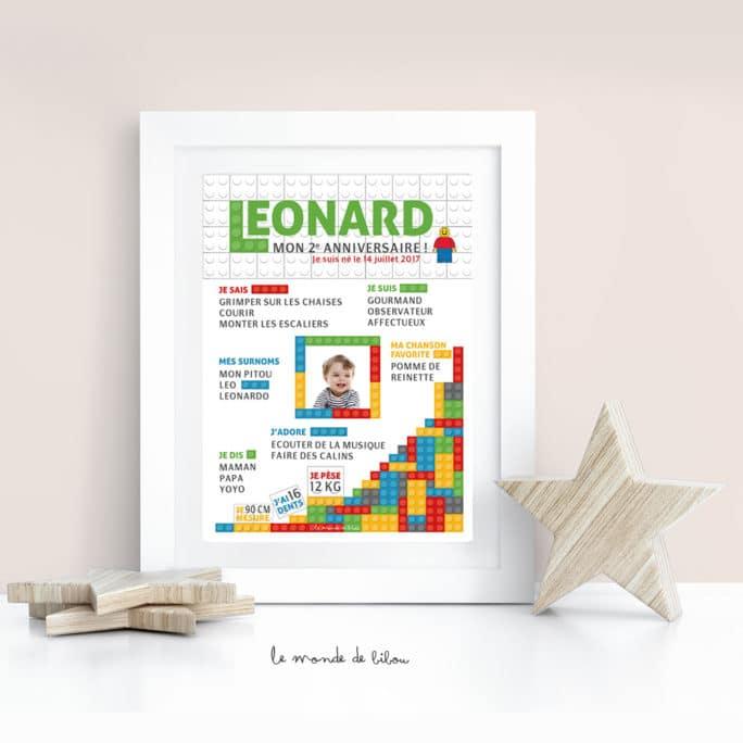 Affiche anniversaire Lego