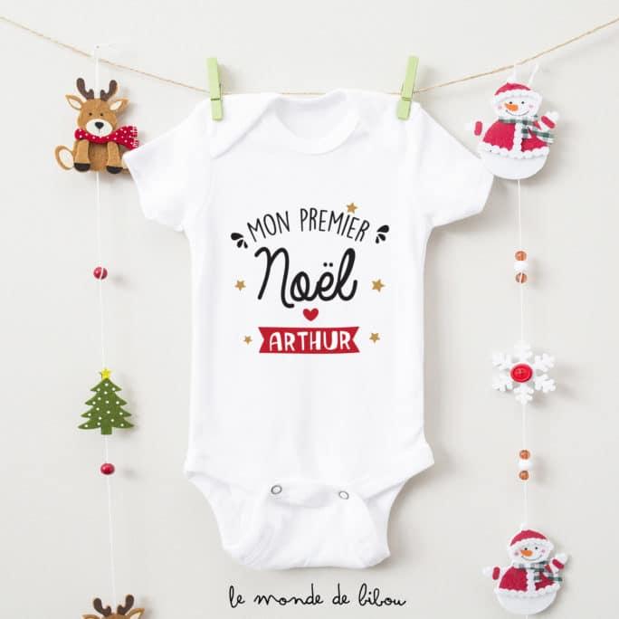 Body personnalisé Mon premier Noël