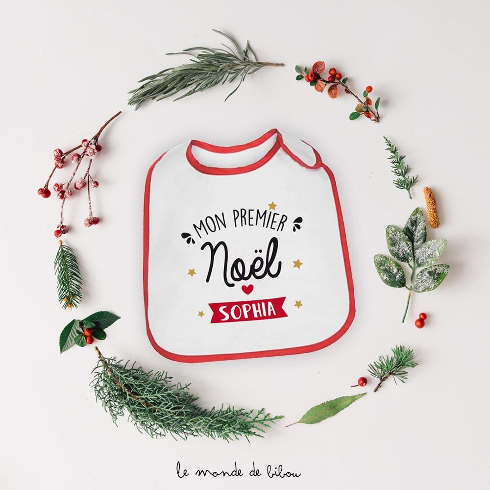 Bavoir personnalisé Mon premier Noël
