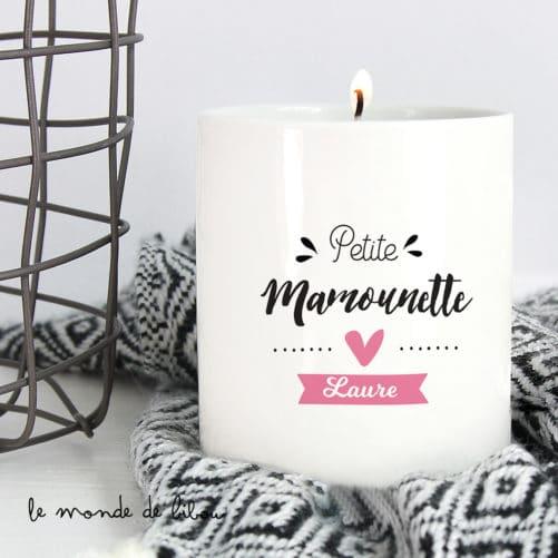 Bougie personnalisée Mamounette
