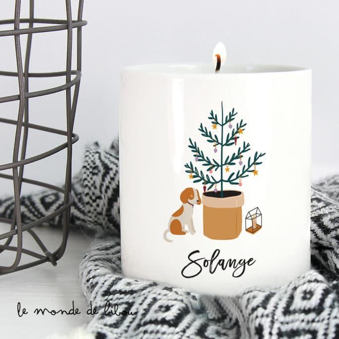 Bougie de Noël personnalisée cocooning