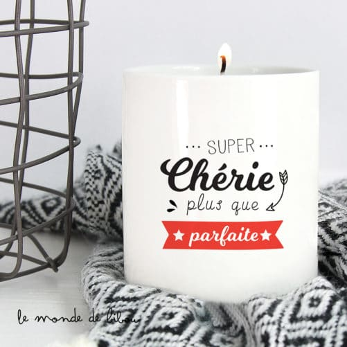 Bougie cadeau Parfaite chérie
