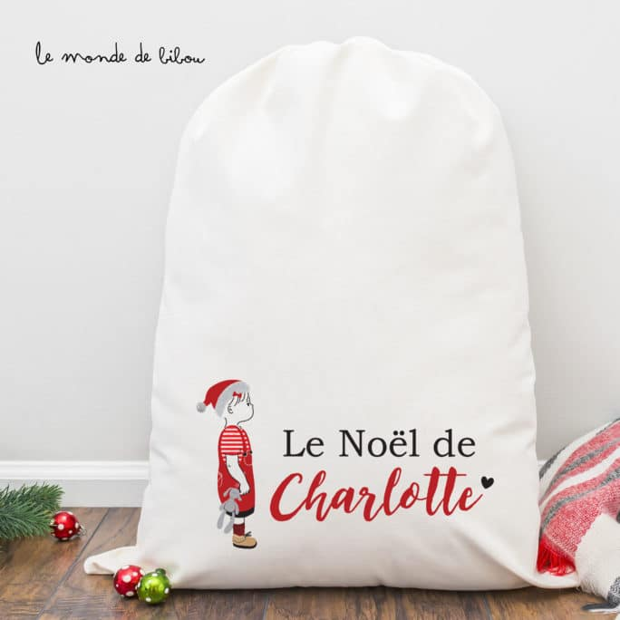 Hotte NOËL personnage fille taille M