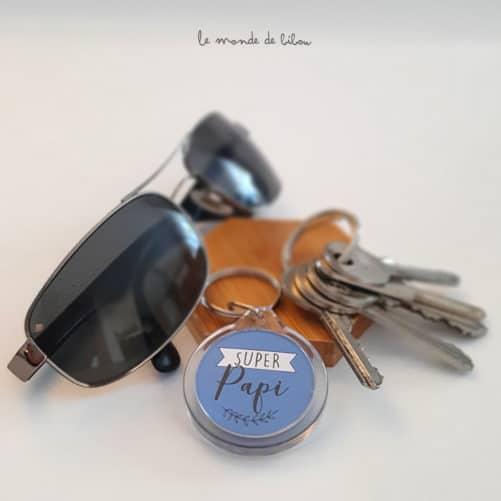 Porte clés Super papi