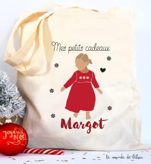 Tote Bag de Noël Fillette