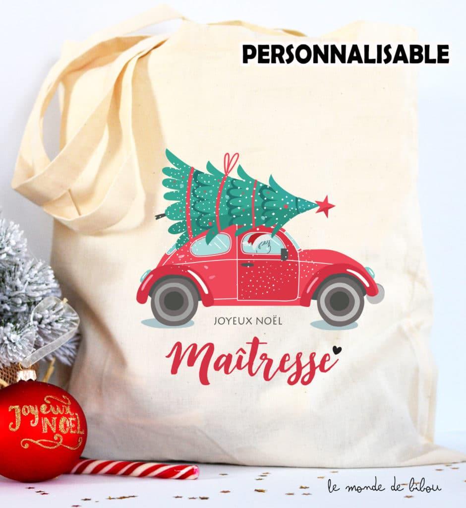 Tote Bag de Noël voiture