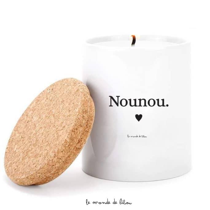 Bougie parfumée personnalisée Nounou