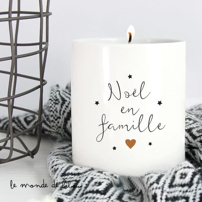 Bougie Noël en famille
