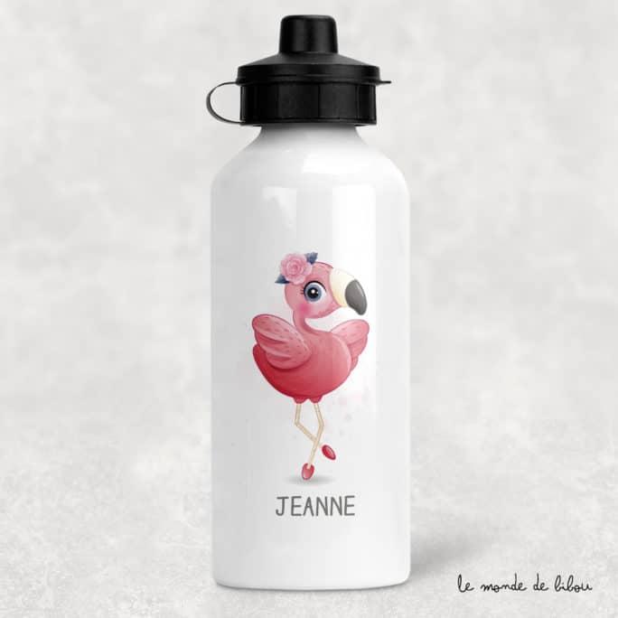Gourde personnalisée Flamant rose
