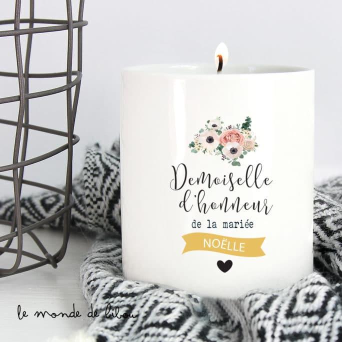 Bougie Demoiselle d'honneur de la mariée