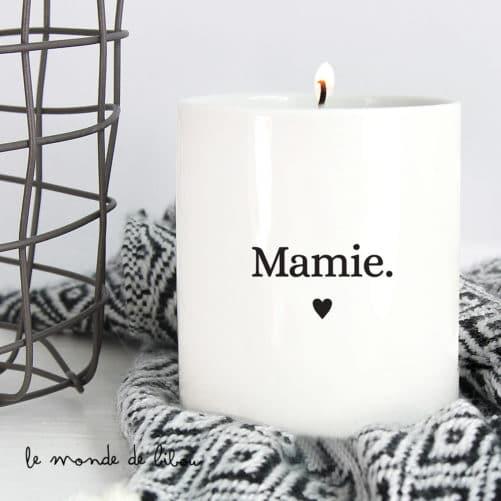 Bougie parfumée personnalisée Famille