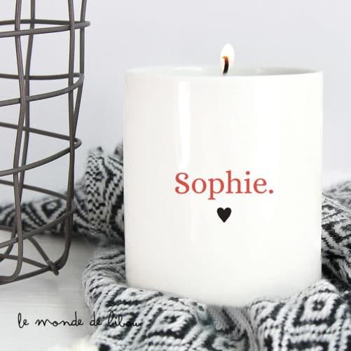 Bougie parfumée personnalisée Prénom