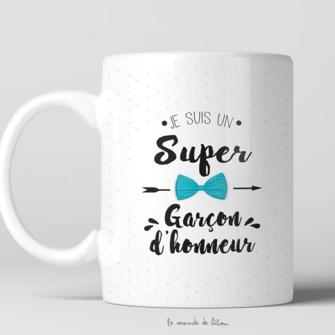 Mug Je suis un super Garçon d'honneur