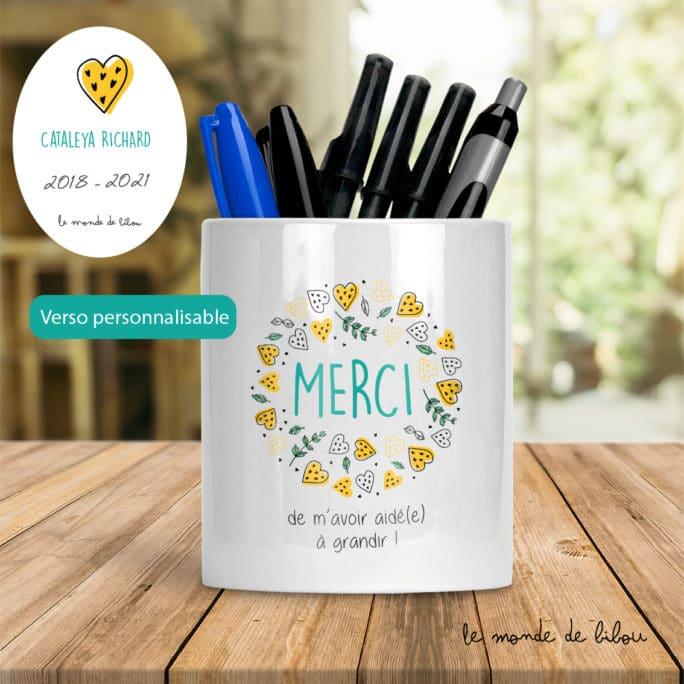 Pot à crayons merci