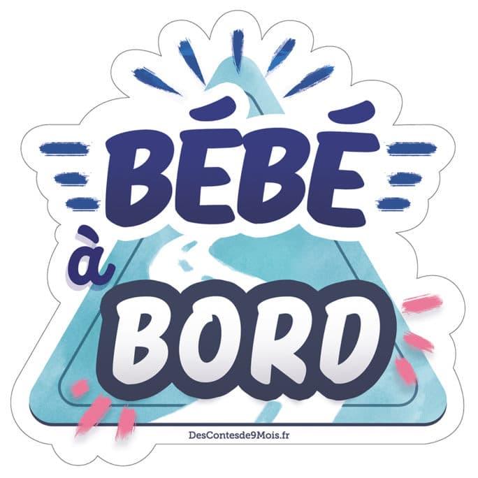 Sticker Voiture bébé à bord Bleu