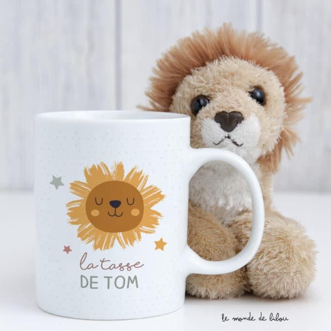 Tasse incassable personnalisée Lion