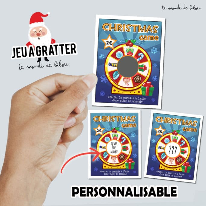 Ticket à gratter Christmas game
